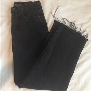 Black denim skater pants